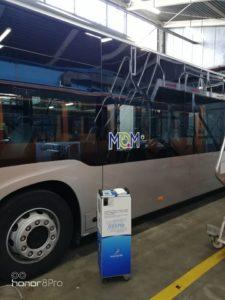 Απολύμανση λεωφορείου με Hygene Air Move